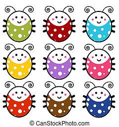 Cute Cartoon Ladybug Set