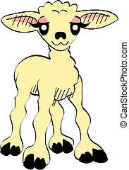 Cute Cartoon Lamb Easter Clip Art