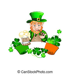 St Patrick's Day - Cute cartoon Leprechaun. St Patrick's Day