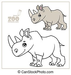 Rhinoceros coloring page | Free Printable Coloring Pages | 195x180