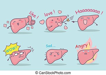 cute cartoon liver set, great for your design