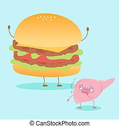 cute cartoon liver