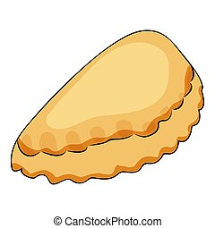 Cute cartoon loaf Isolated on the white background. Flat style. Vector illustration