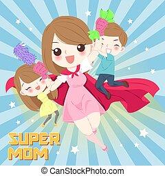 cute cartoon mom
