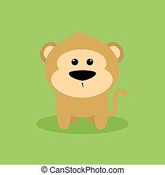 Cute Cartoon Monkey