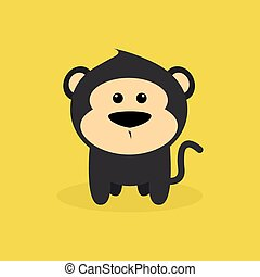 Cute Cartoon Monkey