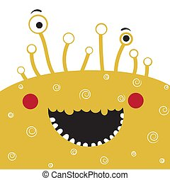 Cute Cartoon Monster. Kids design