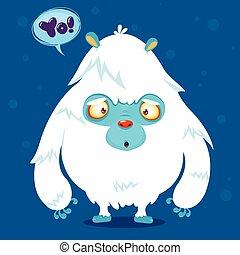 Cute cartoon monster yeti