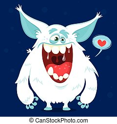 Cute cartoon monster yeti