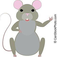 Cute cartoon mouse vector illustration. - Cute cartoon mouse...