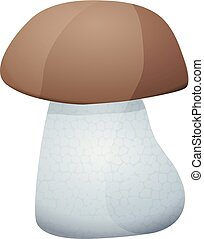 Cute cartoon mushroom isolated on a white background. Vector illustration.