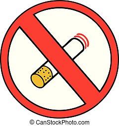 cute cartoon no smoking allowed sign