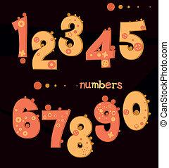 cute cartoon numbers