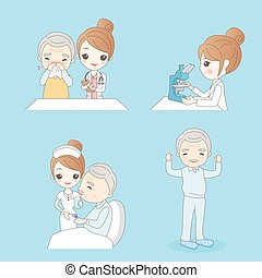 cartoon nurse with patient