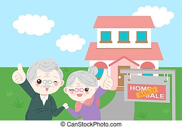 old couple with house sale
