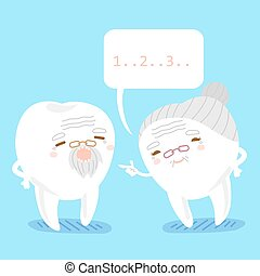 tooth couple with speech bubble