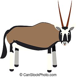 Cute cartoon oryx gazelle vector illustration