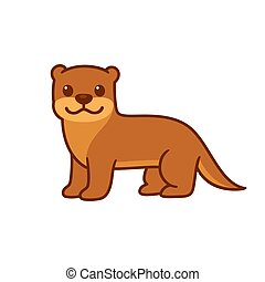 Cute cartoon otter
