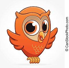 cute cartoon owl character vector