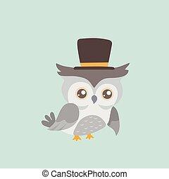 Cute cartoon owl.