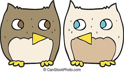 cute cartoon owls