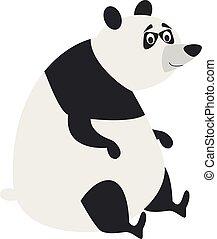 Cute cartoon panda vector illustration