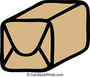 cute cartoon paper parcel - cute cartoon of a paper parcel