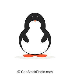 Cute cartoon penguin for Merry Christmas and New Year?s celebration vector illustration.
