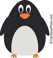 Cute cartoon penguin vector illustration