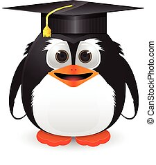 Penguin with graduation cap