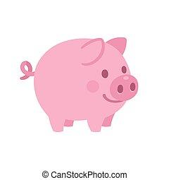 Cute cartoon pig