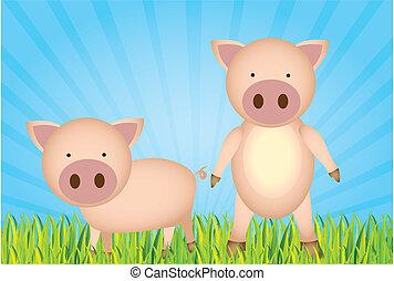 cute cartoon pigs