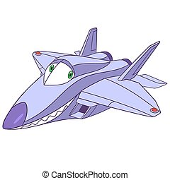 cute cartoon plane f-22 raptor
