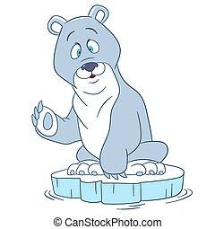 cute cartoon polar bear - cute and happy cartoon polar bear...