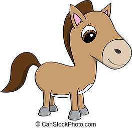 Cute cartoon pony illustration