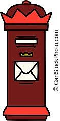 cute cartoon post box