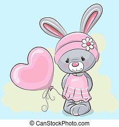 Cute Cartoon Rabbit Girl