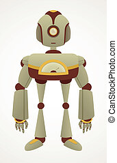 Cute Cartoon Retro Robot