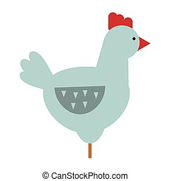 Cute cartoon rooster vector illustration - Cute cartoon...