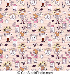 cute cartoon seamless pattern