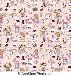 cute cartoon seamless pattern