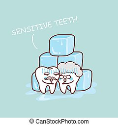 senior sensitive teeth with ice