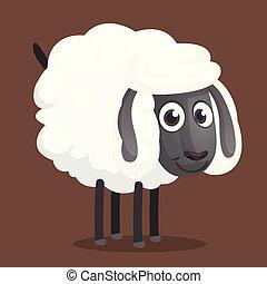 Cute cartoon sheep character.
