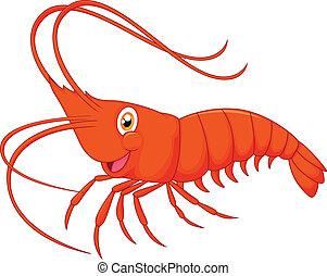 Cute cartoon shrimp - vector illustration of Cute cartoon...