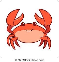 vector illustration of cartoon smiling crab vector clipart search rh canstockphoto com crab clip art free crib clipart