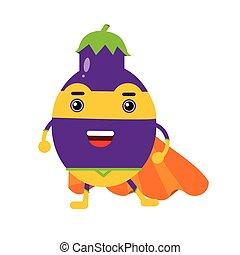 Artichoke cute anime humanized smiling cartoon vegetable