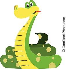 Cute cartoon snake vector illustration