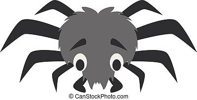 Cute cartoon spider vector illustration