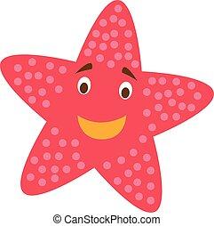 Cute cartoon starfish vector illustration