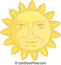 Cute cartoon sun vector illustration eps 10